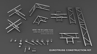 3d model eurotruss truss construction kit