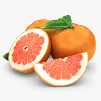 3d 3ds realistic grapefruit red