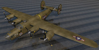 3d model of consolidated b-24d liberator