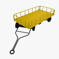gw-ae06 baggage cart 3d model