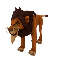 cartoon lion king 3d max