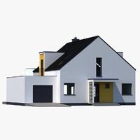 house modern 3d max