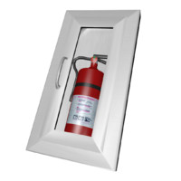3d model of extinguisher box