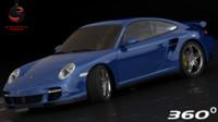 porsche 911 turbo 2006 3d model