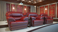 3d model theater home interior