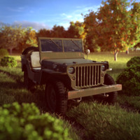 jeep willys jerry 3d model