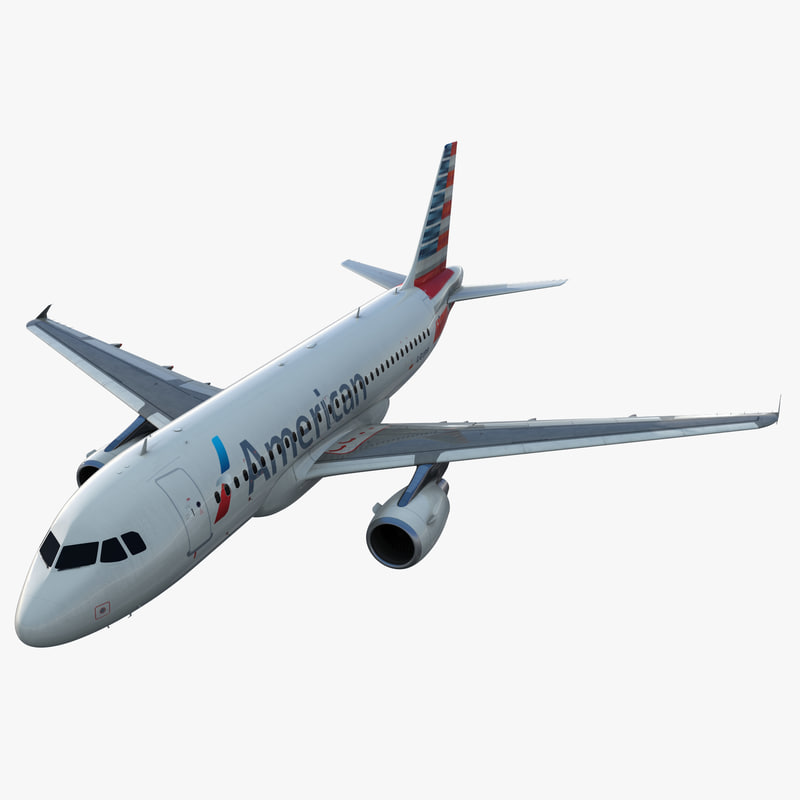 Airbus A319 American Airlines Rigged 3d model 01.jpg