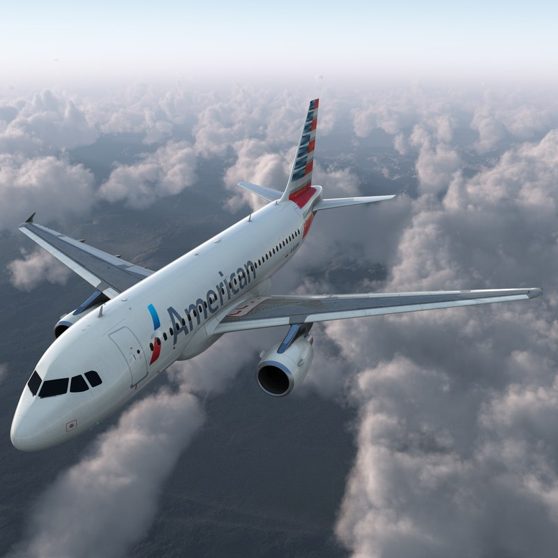 Airbus A319 American Airlines Rigged 3d model 02.jpg