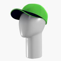 green cap & white mannequin