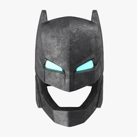 3d batman power armor helmet model