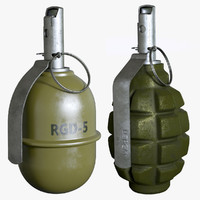 grenades set 3d model