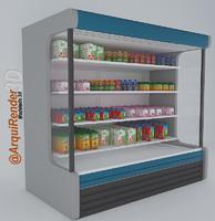 3d fridge milks model