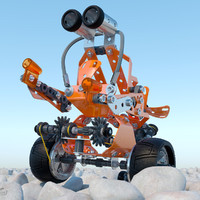meccano robot toy 3d model