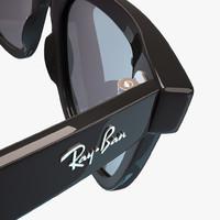 ban wayfarer rb2140 3d model
