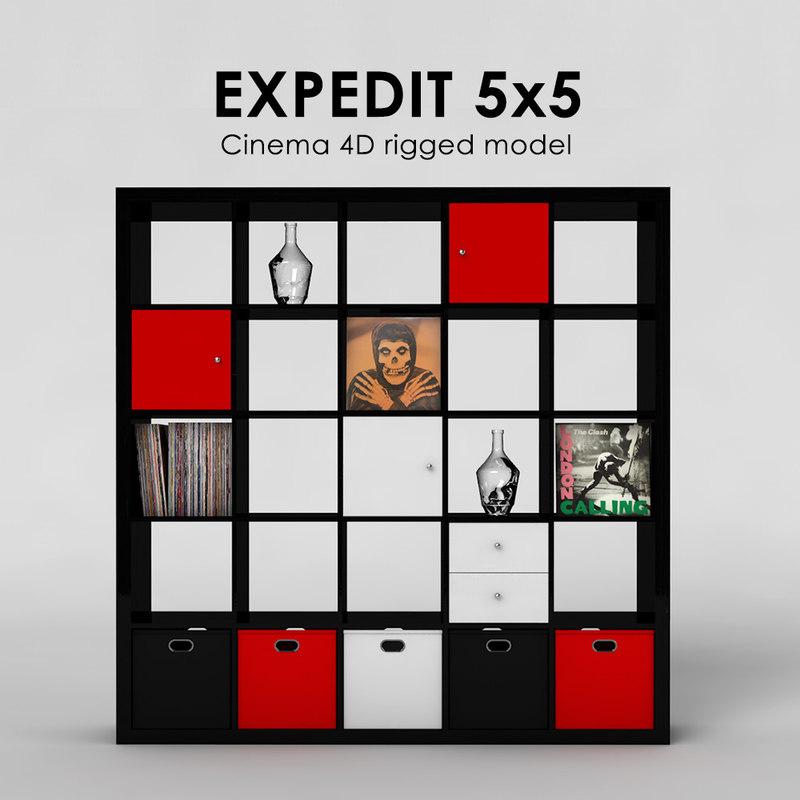 ikea expedit 5x5 3d 3ds. Black Bedroom Furniture Sets. Home Design Ideas