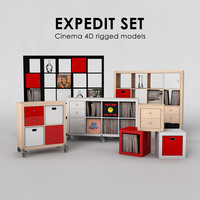 ikea expedit set 3ds
