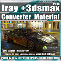 Iray + in 3dsmax 2016 Converter Material Vol 4.0 Cd Front