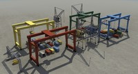port equipment 3d model