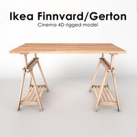 Ikea Finnvard + Gerton Table (Rigged)