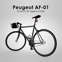 peugeot af-01 rigged 3d model