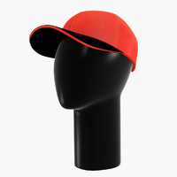red cap & black mannequin