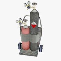 3d model oxygen acetylene cutter