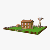 3d model of designs country house windmill