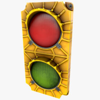 loading signal light 3d model