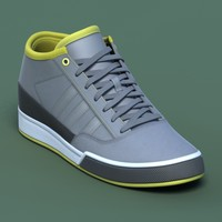 Sports shoes #03 grey yellow