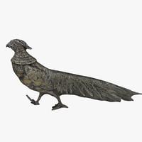 3d peacock silverware