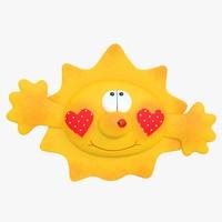 3d model toy sun
