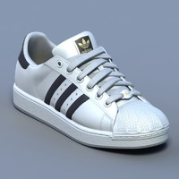 white sports shoes 3d max