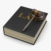3d law book gavel 2