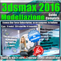 Corso 3ds max 2016 Modellazione Guida Completa Locked Subscription, un Computer.