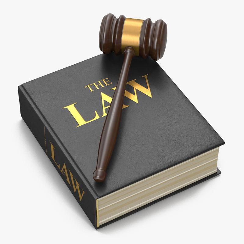 3d Law Book Gavel