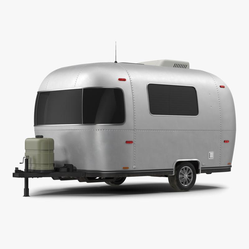 Retro Air Stream Recreational Vehicle 3d model 01.jpg