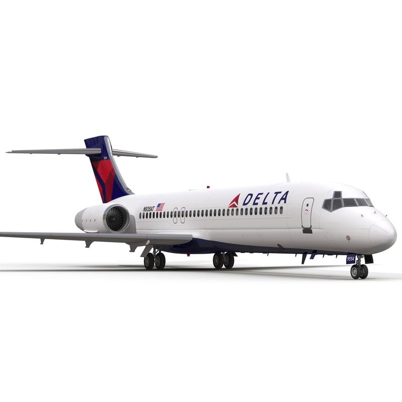 Boeing 717-200 Delta Air Lines 3d model 02.jpg