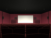 3d movie theater model