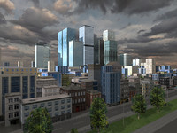 city skyscraper buildings 3ds