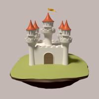 obj medieval fortress
