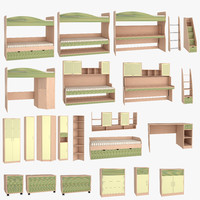 kaleidoscope children s furniture 3d model
