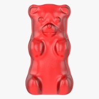 3d model of red gummy bear