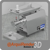 3d industrial meat grinder model