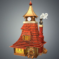 3d stylized tavern model