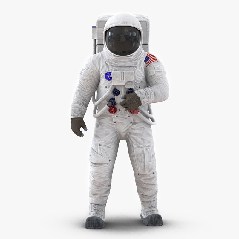 Astronaut NASA Wearing Spacesuit A7L 01.jpg