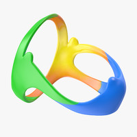 3d model olympic rings icon