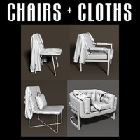 chair cloths interiors 3d obj