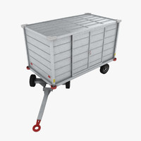denge 290s baggage cart 3d model
