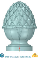 pineapple finial 3d model