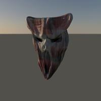 demon mask 3d obj